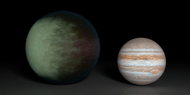 Kepler-7b și Jupiter