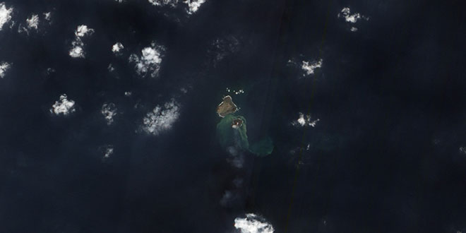 Niijima vulcanic island