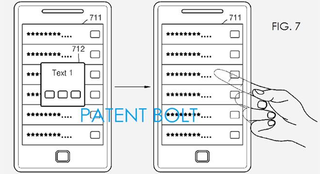 Samsung smartphone transparent