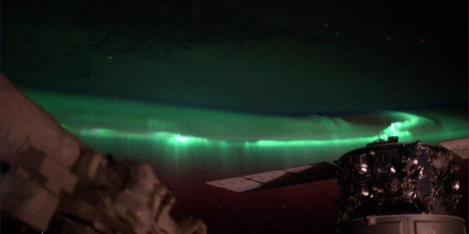 Aurora boreala ISS