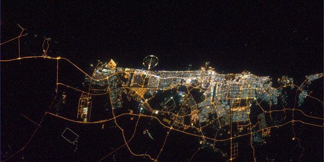 Dubai din spatiu