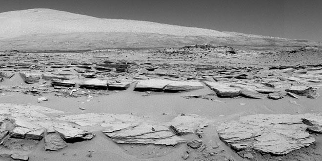 Muntele Sharp, Marte