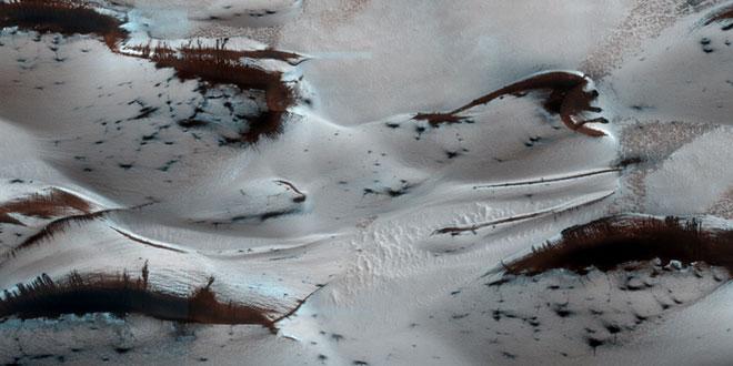 dune de nisip si gheata carbonica pe Marte