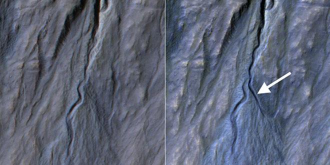 eroziune pe Marte