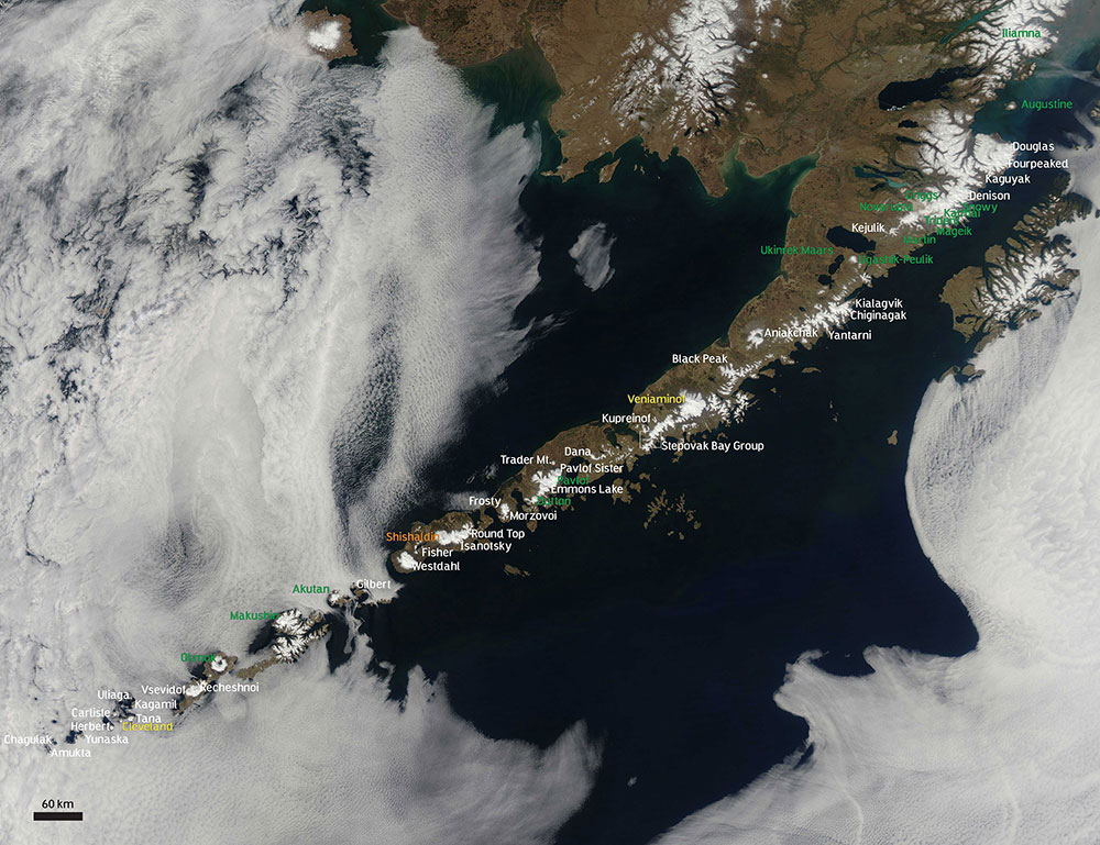 Aleutian Islands Volcanoes