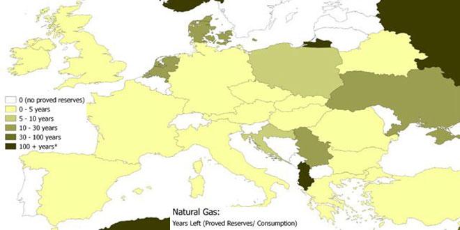 Epuizarea resurselor gaze naturale