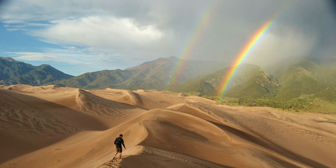 Great Sand Dunes rainbow