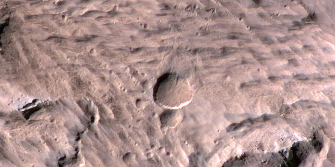 biggest Mars crater