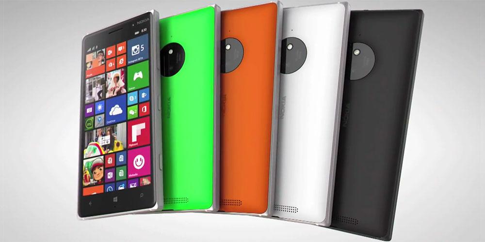 Lumia 830 colours