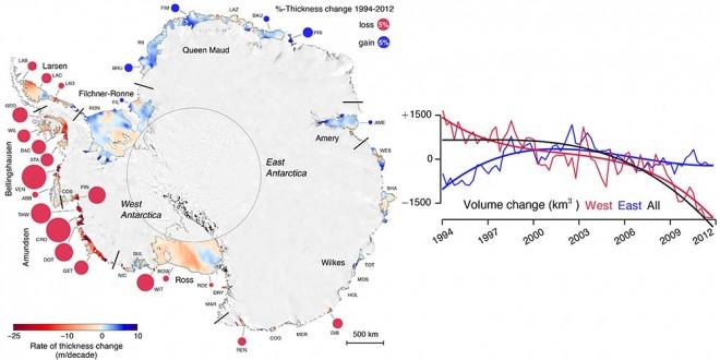 Topirea ghețarilor de șelf în Antarctica / ilustrație UC San Diego