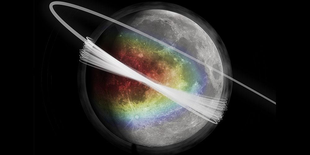 nori de praf pe Luna