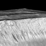 Cursuri de apă pe Marte în linii recurente în pantă
