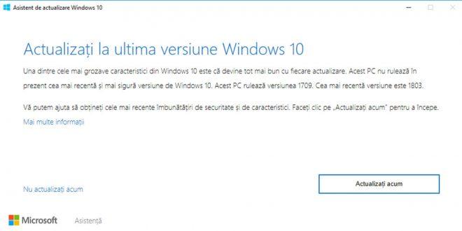 Asistent de actualizare Windows 10